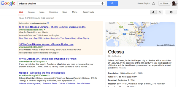 Strange what people who are searching for Odessa appear to be searching for... me, just there for the beautiful beaches with a low BPMOS (butts per thousand grains of sand).