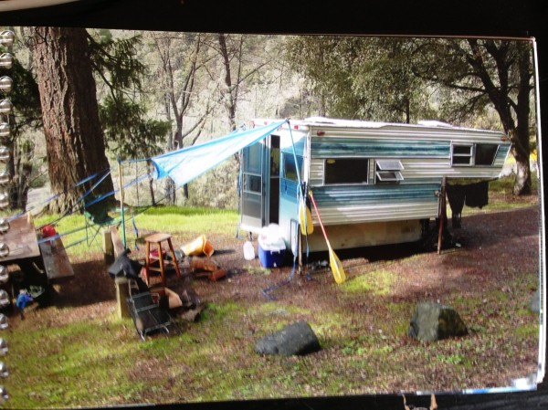 This was our beautiful home in the Trinity Alps. Scotty's cab-over-camper replete with chef's kitchen, and enclosed patio. We lived out of this beauty for 3 days of rafting Northern California in the mid-00's.