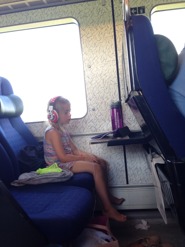 Plenty of screen time on any mode of transportation! Thanks for babysitting for me again, iPad!