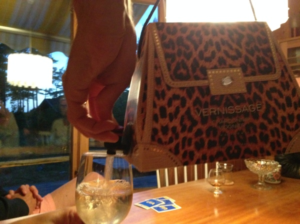 This bag of wine cost more than a my car - but look at how well it went with me shoes!