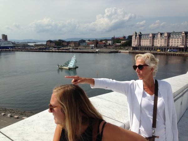 Beautiful Oslo, Noway! Where we didn't meet a single Norwegian.