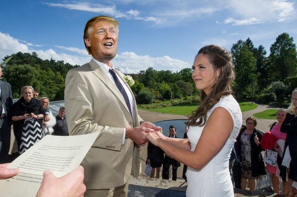 While I did have a nightmare that Trump was marrying my wife...